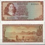 Bello banconote Sudafrica Pick numero 109 - 1 Rand 1966