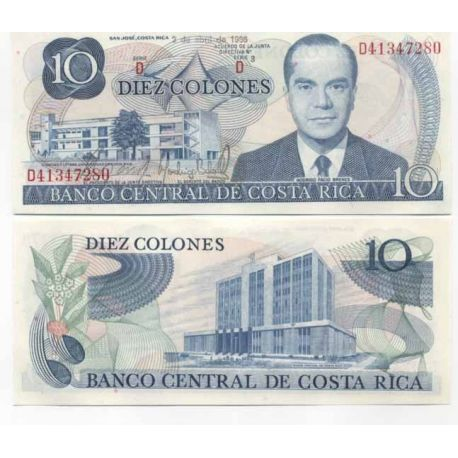 Billets de collection Costa Rica Pk N° 237B - 10 Colones