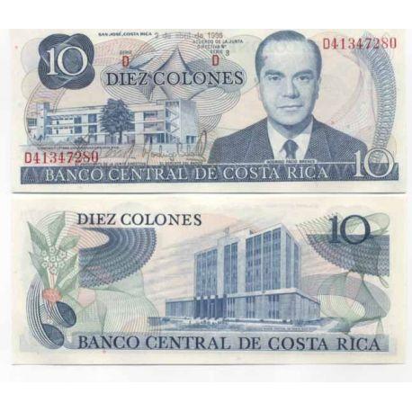 Billets de collection Costa Rica Pk N° 237B - 10 Colones