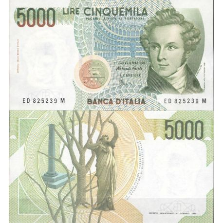 Billets de collection Italie Pk N° 111 - 5000 Lire