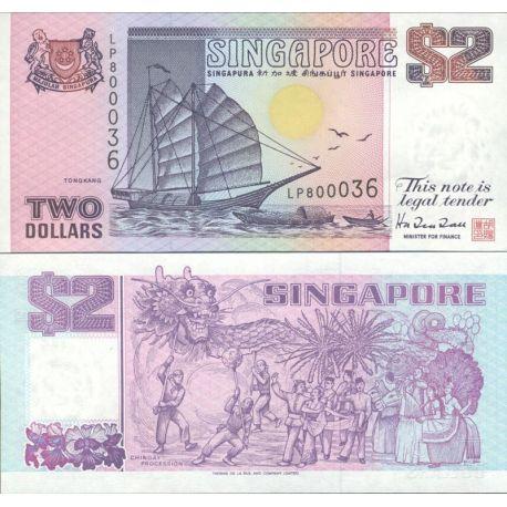 Billets de collection Singapour Pk N° 28 - 2 Dollars