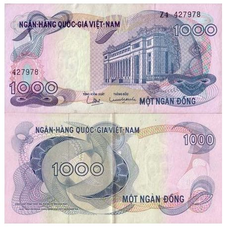 Billets de collection Billets de collection Vietnam Sud Pk N° 29 - 1000 Dong Billets du Vietnam Sud 6,00 €