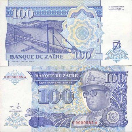 Billets de collection Billets de collection Zaire Pk N° 57 - 50 Nouveaux Zaires Billets du Zaire 4,00 €