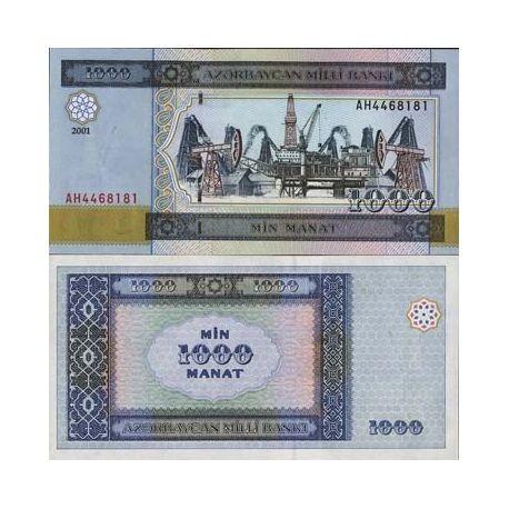 Billets de collection Billet de banque de 1000 Manat - Billet collection Azerbaidjan Pk N° 23 Billets d'Azerbaidjan 4,00 €