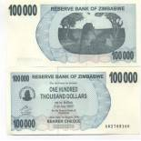 Collection of Banknote Zimbabwe Pick number 48 - 100000 Dollar