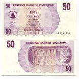 Billets collection Zimbabwe Pk N° 41 - 50 Dollars bearer