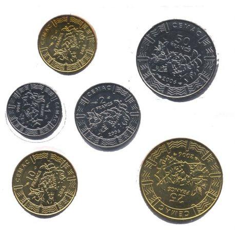 Afrique Centrale - Série de 6 pièces différentes
