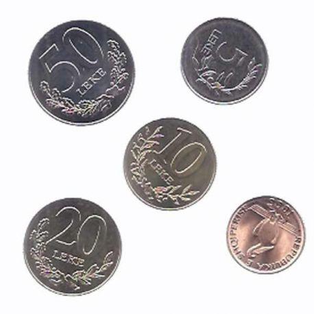 Albanie - Série de 5 pièces différentes