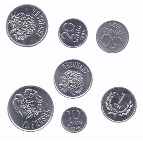 Armenie - Série de 7 pièces différentes