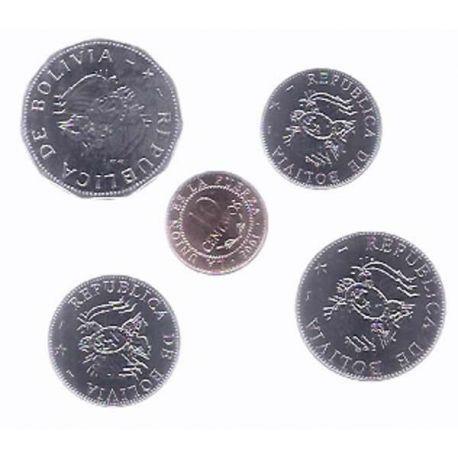 Bolivie - Série de 5 pièces différentes