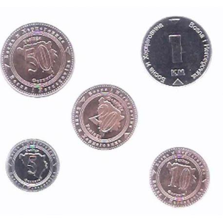 Bosnie - Série de 5 pièces différentes