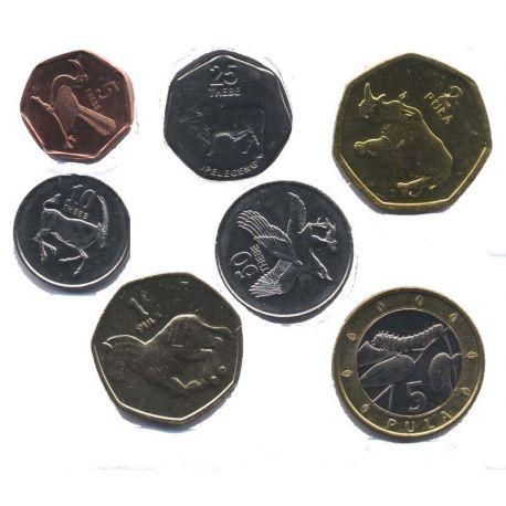 Botswana - Série de 7 pièces différentes