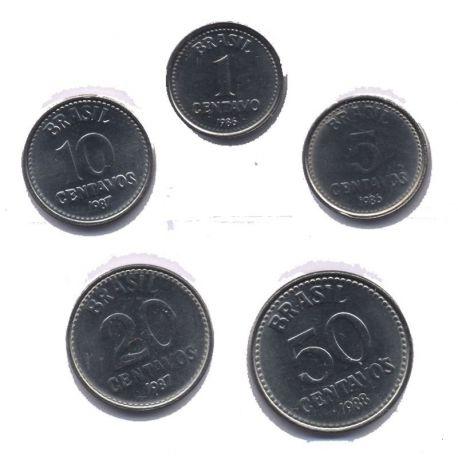 Bresil - Série de 5 pièces différentes