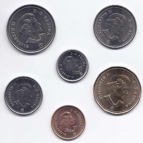 Canada - Série de 6 pièces différentes