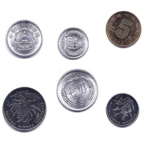 Chine - Série de 6 pièces différentes