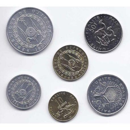 Djibouti - Série de 6 pièces différentes