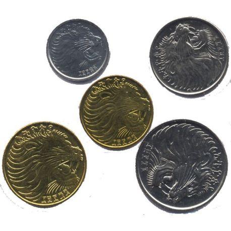 Ethiopie - Série de 5 pièces différentes