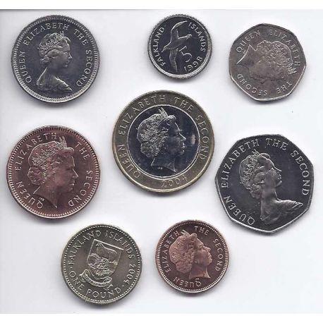 Falkland - Série de 8 pièces différentes