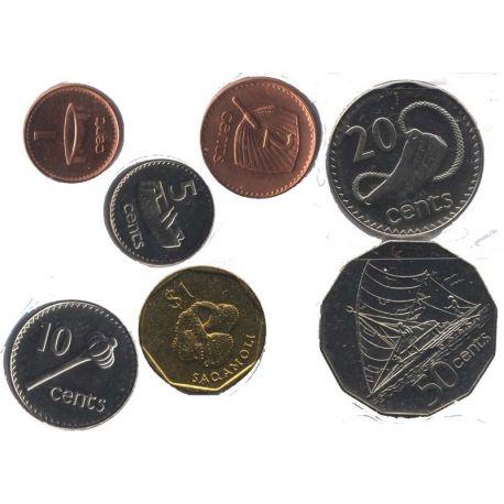 Fidji - Série de 7 pièces différentes