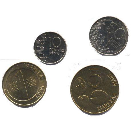 Finlande - Série de 4 pièces différentes