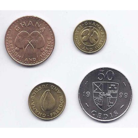Ghana - Série de 4 pièces différentes