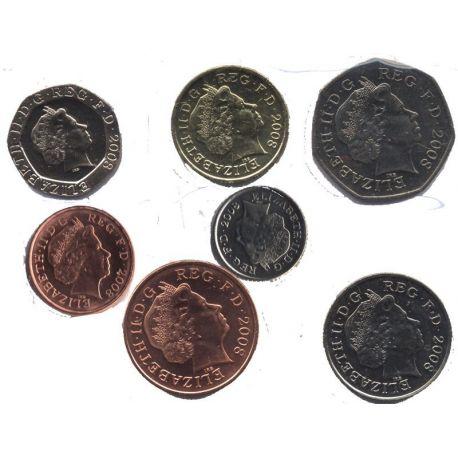 Grande Bretagne - Série de 7 pièces différentes