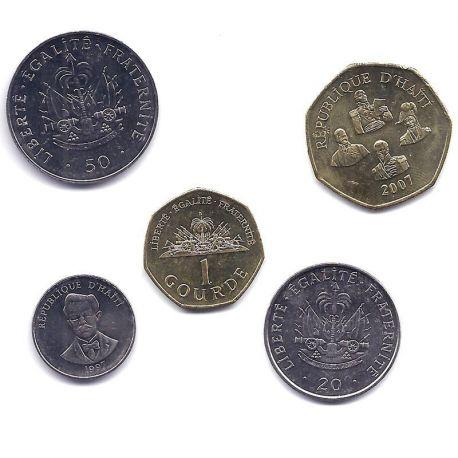 Haiti - Série de 5 pièces différentes