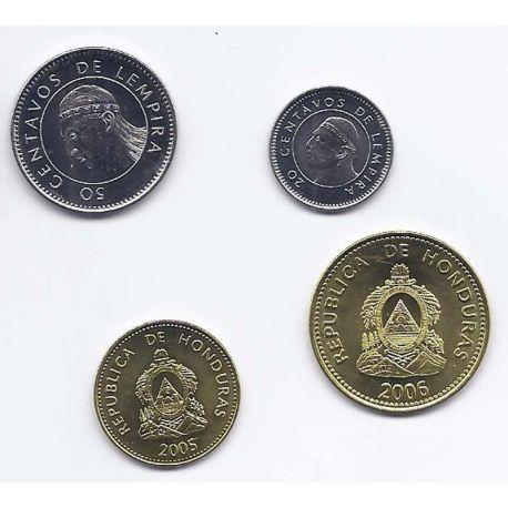 Honduras - Série de 4 pièces différentes