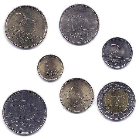 Hongrie - Série de 7 pièces différentes