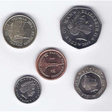 Ile De Man - Série de 5 pièces différentes