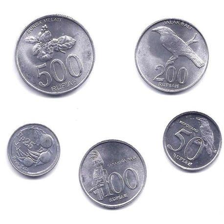 Indonesie - Série de 5 pièces différentes
