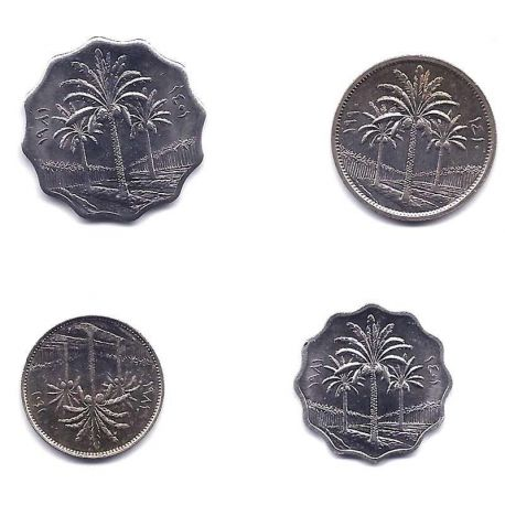 Irak - Série de 4 pièces différentes