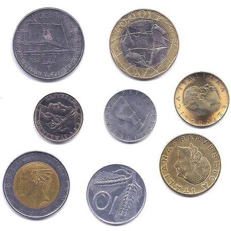 Italie - Série de 8 pièces différentes