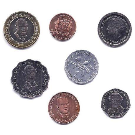 Jamaique - Série de 7 pièces différentes