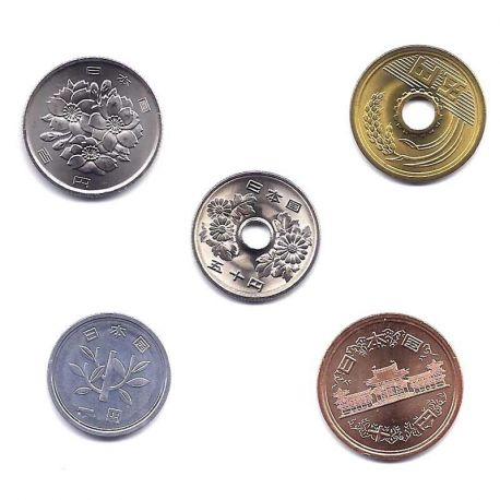 Japon - Série de 5 pièces différentes
