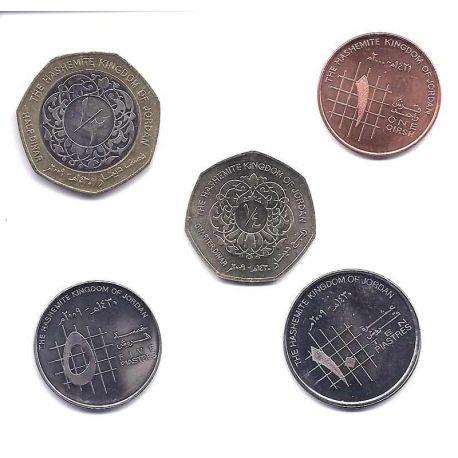 Jordanie - Série de 5 pièces différentes