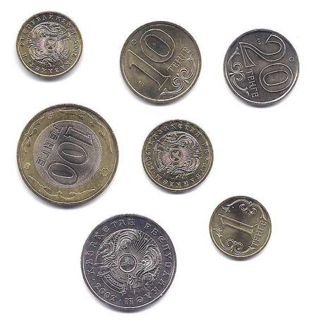 Kazakstan - Série de 7 pièces différentes