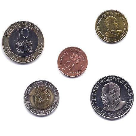 Kenya - Série de 5 pièces différentes