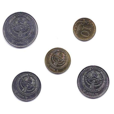 Kirghistan - Série de 5 pièces différentes