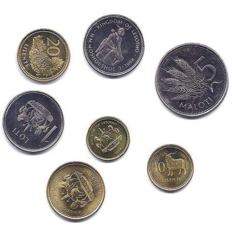 Lesotho - Série de 7 pièces différentes