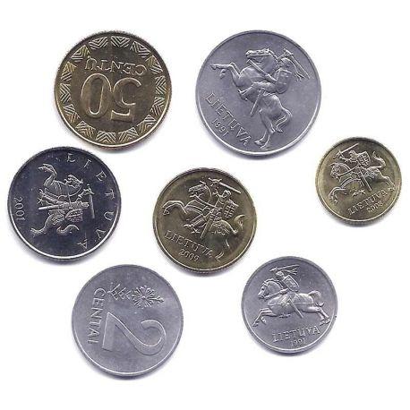 Lituanie - Série de 7 pièces différentes