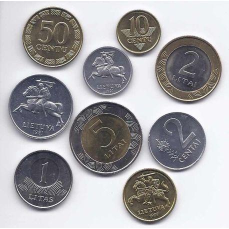 Lituanie - Série de 9 pièces différentes