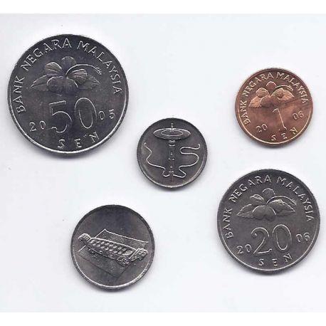 Malaisie - Série de 5 pièces différentes