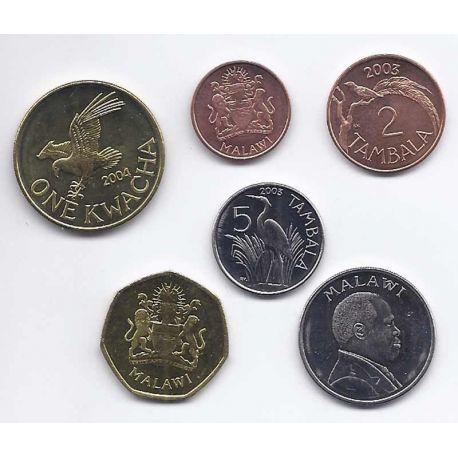 Malawi - Série de 6 pièces différentes