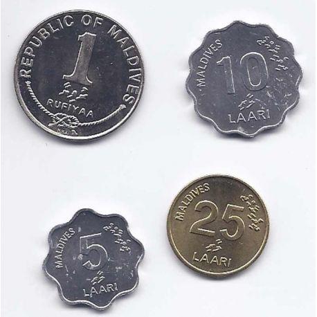 Maldives - Série de 4 pièces différentes