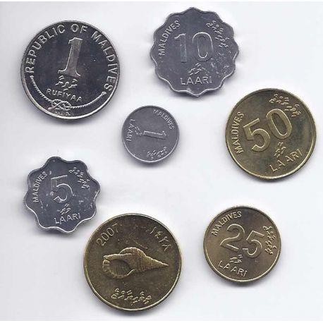 Maldives - Série de 7 pièces différentes