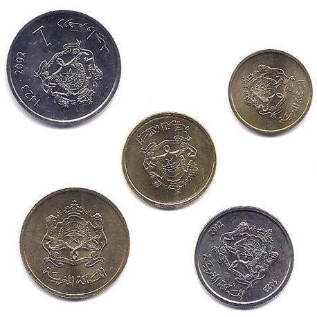 Maroc - Série de 5 pièces différentes