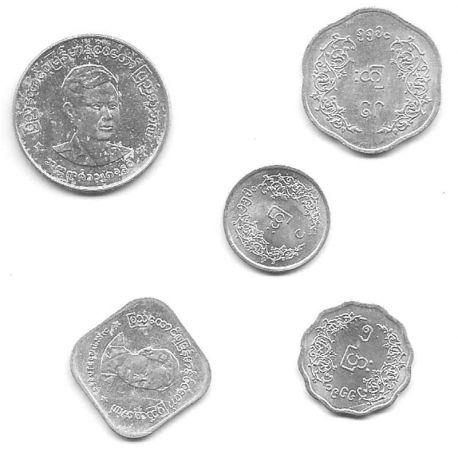 Myamnar - Série de 5 pièces différentes