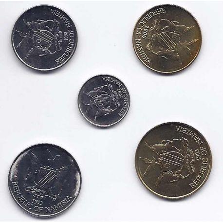 Namibie - Série de 5 pièces différentes