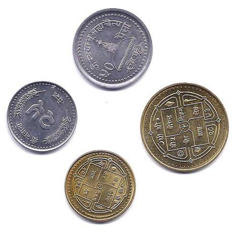 Nepal - Série de 4 pièces différentes